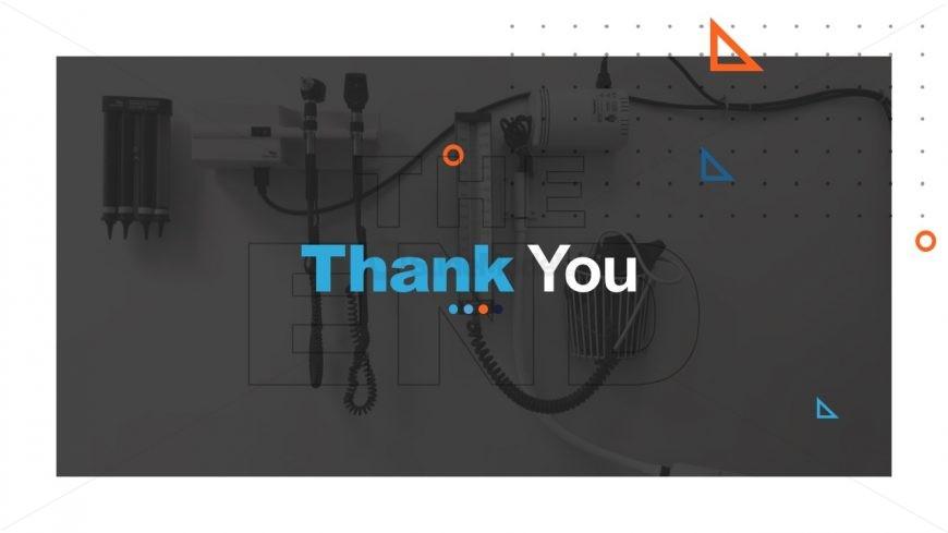 PPT Thank You Slide Background for Healthcare Center
