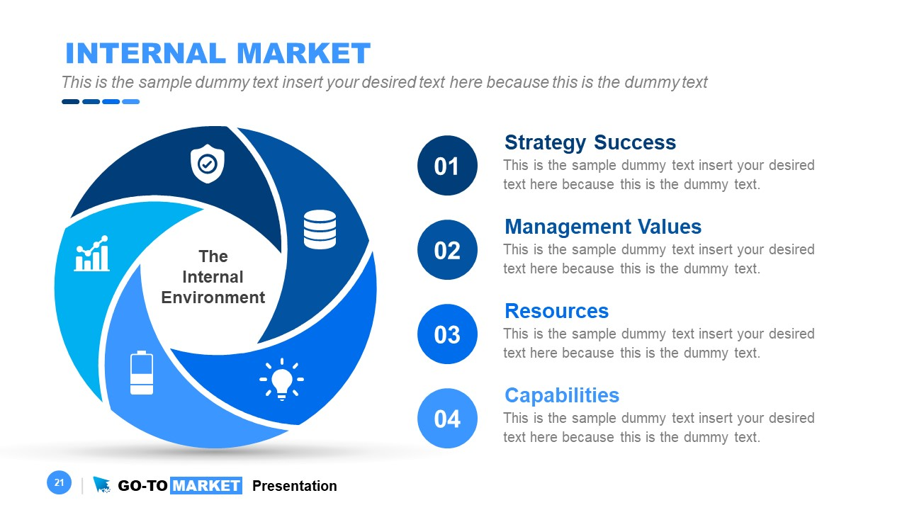 PowerPoint of 6 Steps Circular Flow Diagram