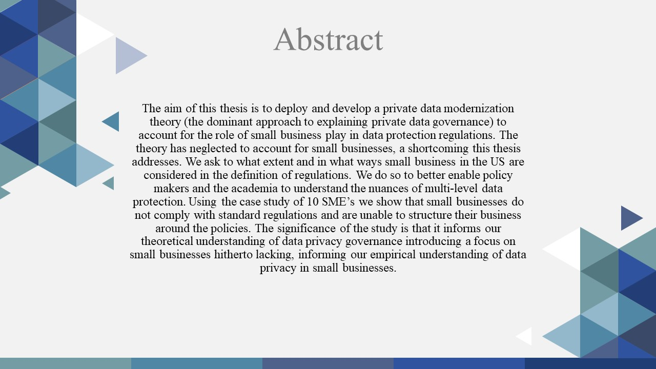 Template of PhD Dissertation Abstract