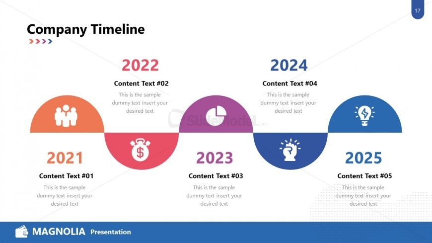 Infographic Timeline Template Design