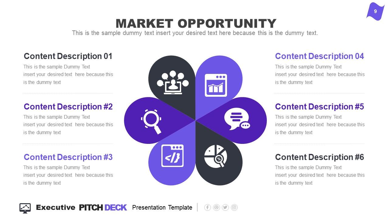 Slide of 6 Steps Marketing Opportunity