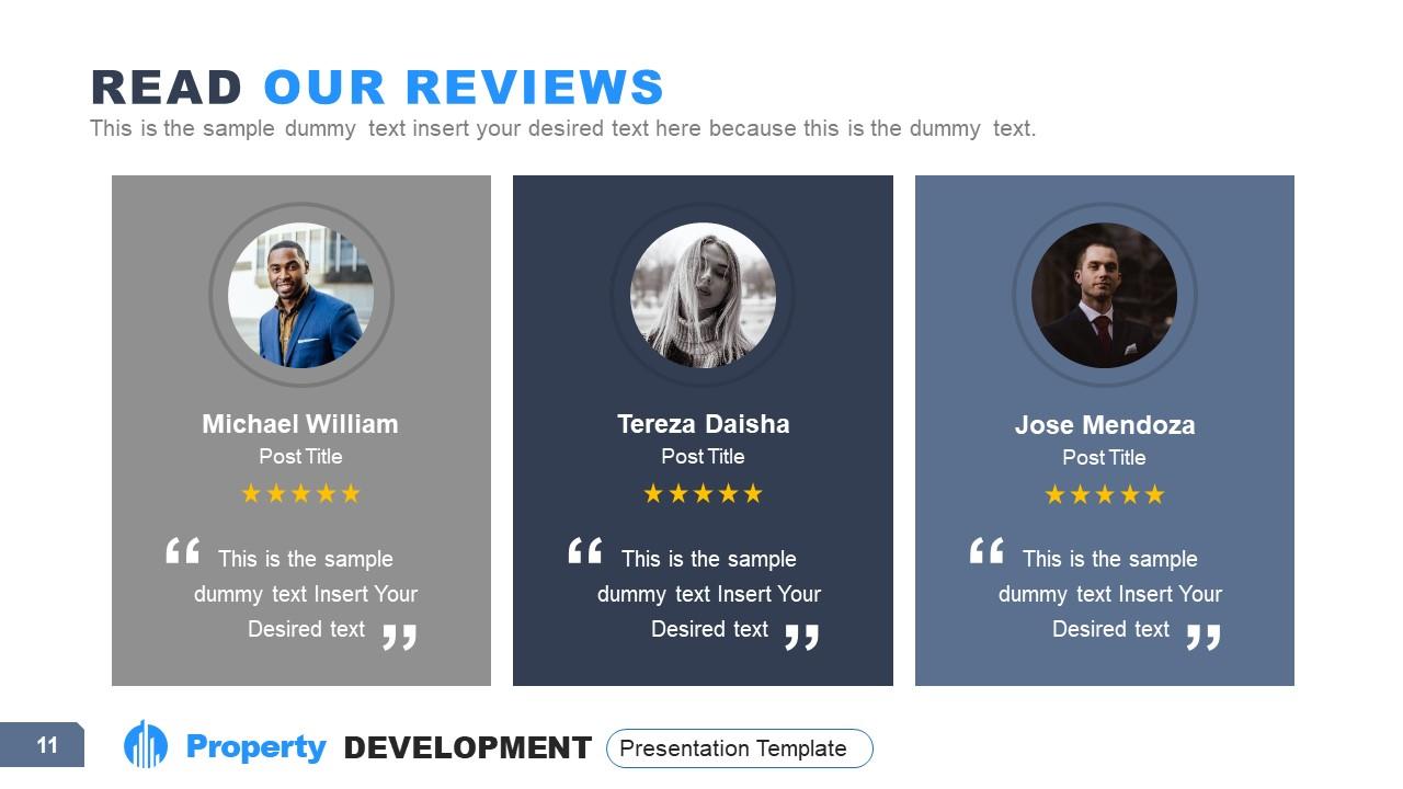 3 Segments of Property Development Reviews