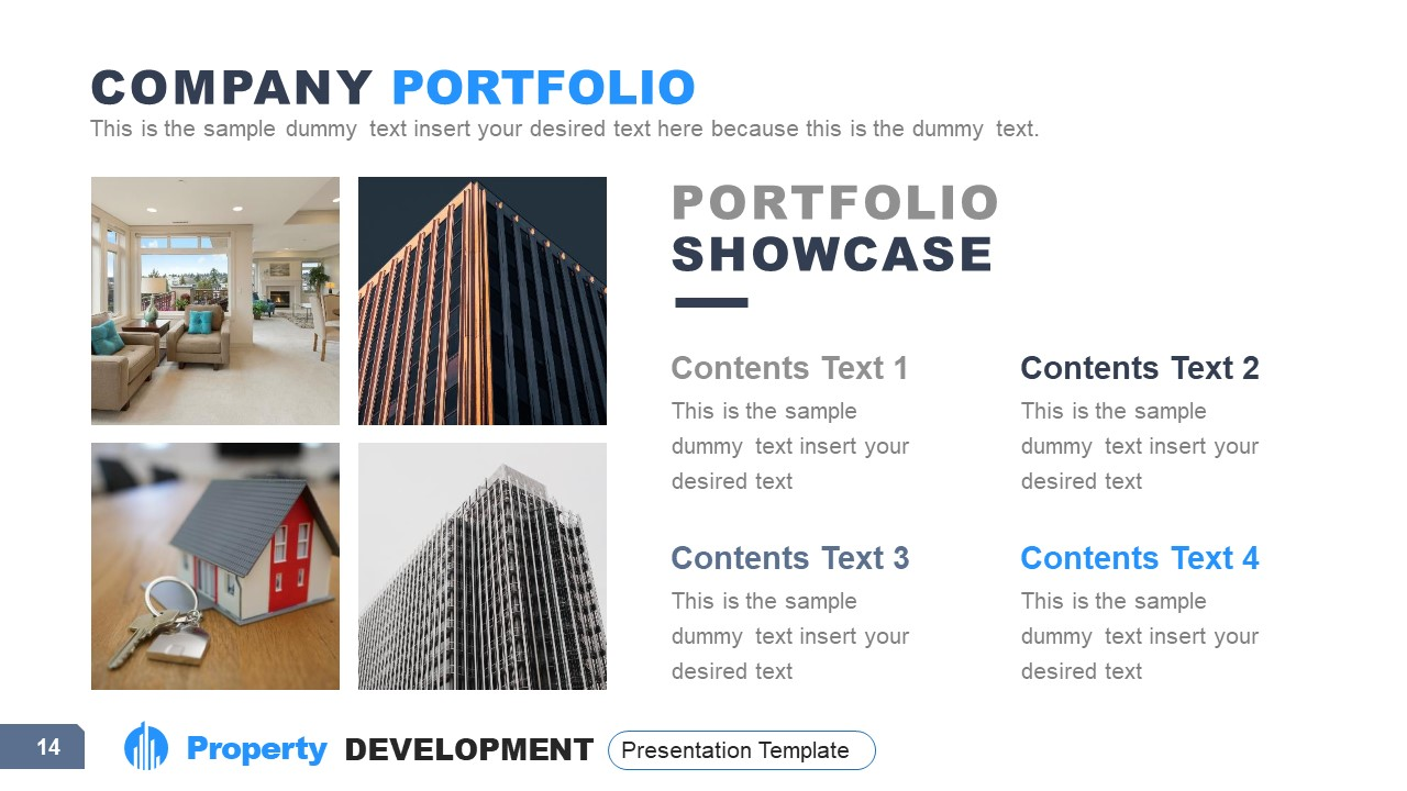 4 Sections of Property Development Portfolio