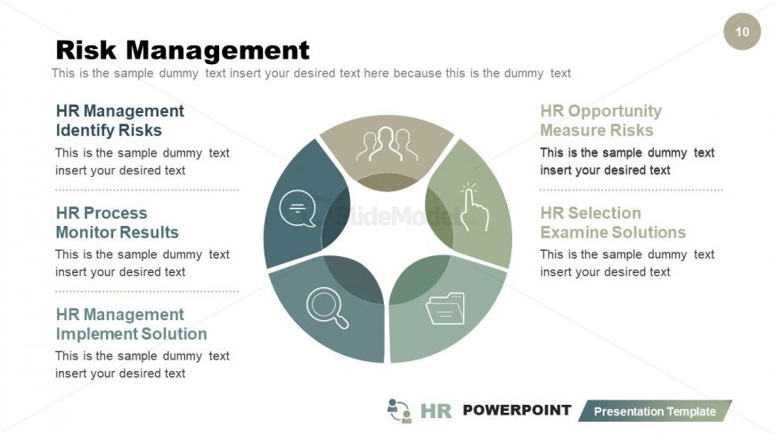 Infographic Risk Management Process Cycle