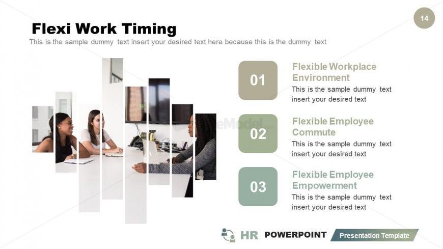 Cutout Graphics Timing PowerPoint