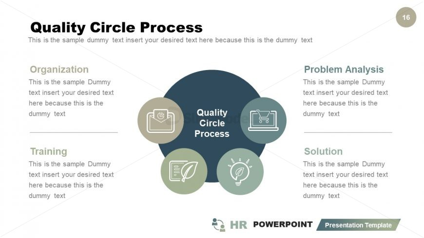 4 Steps Quality Process PowerPoint