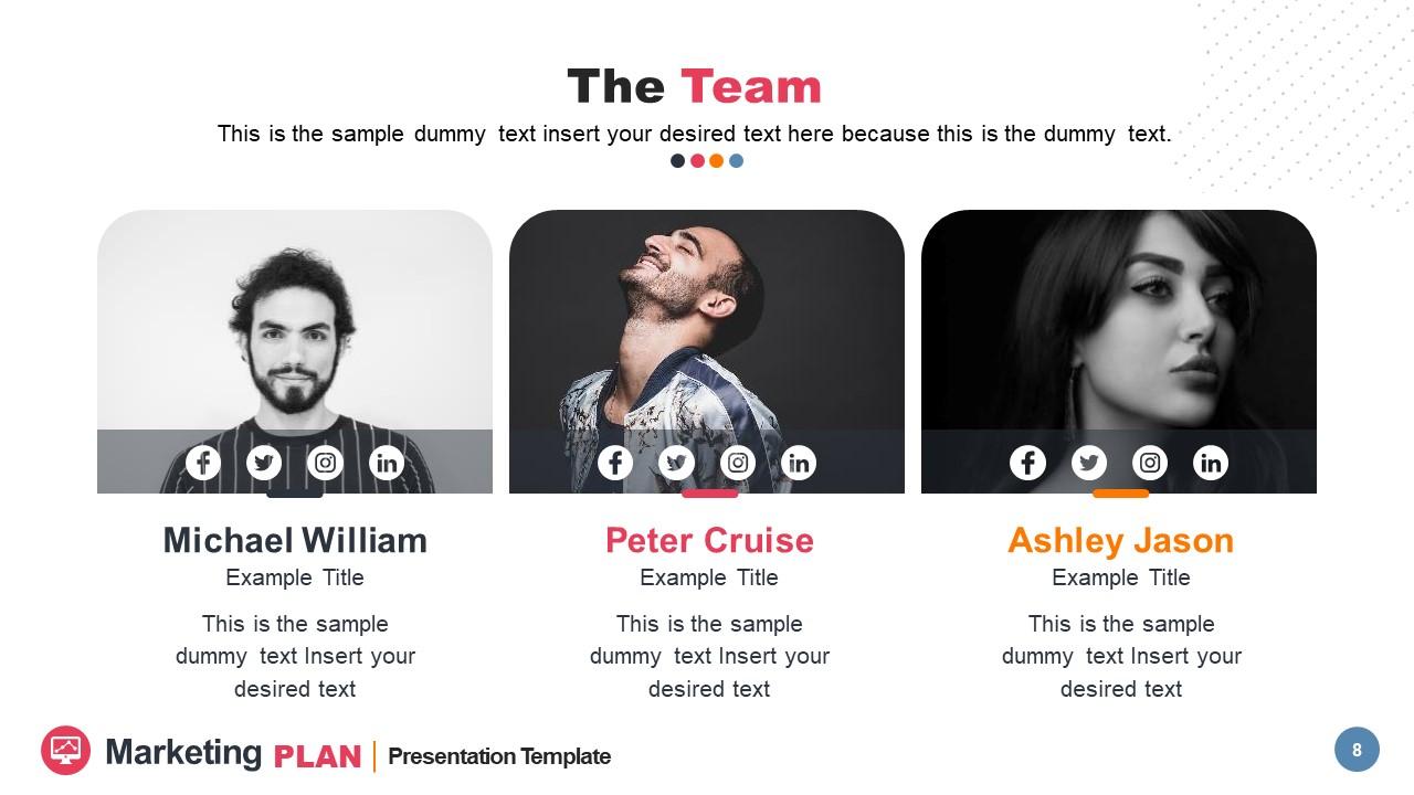 Three Segments of Marketing Team Intro