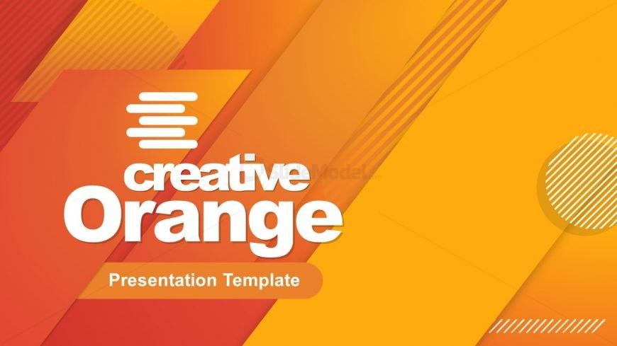 Orange Cover Slide for Business Presentation
