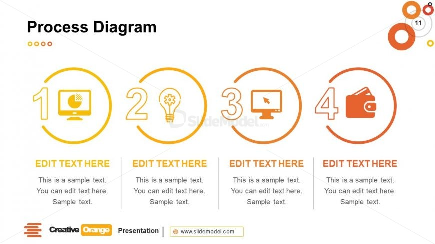 PowerPoint Infographics 4 Steps Diagram