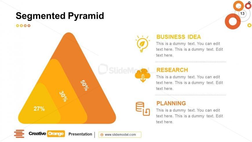 Orange Segmented Pyramid Template