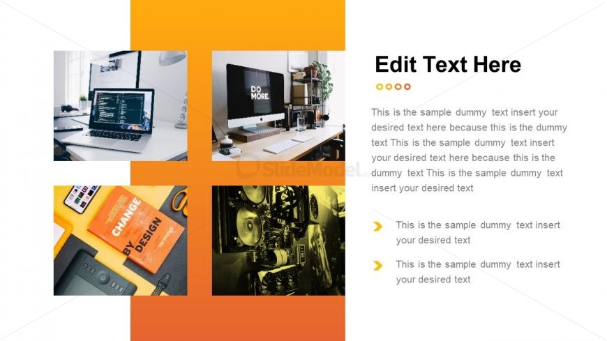 Business Portfolio Template Orange Theme