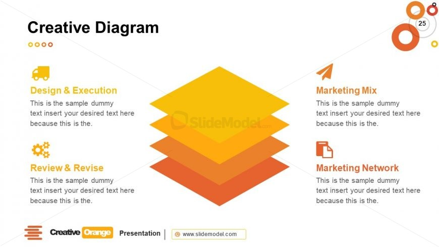 4 Steps Stacked Diagram Template