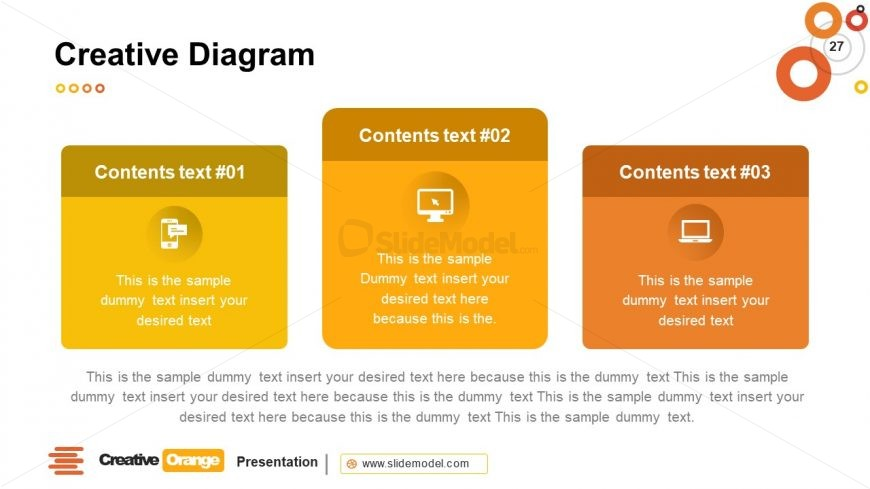 Business Information in 3 Segments Template