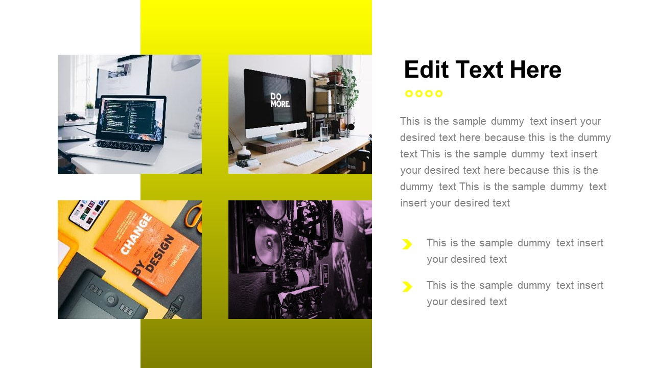 PowerPoint Gallery Slide Yellow Theme