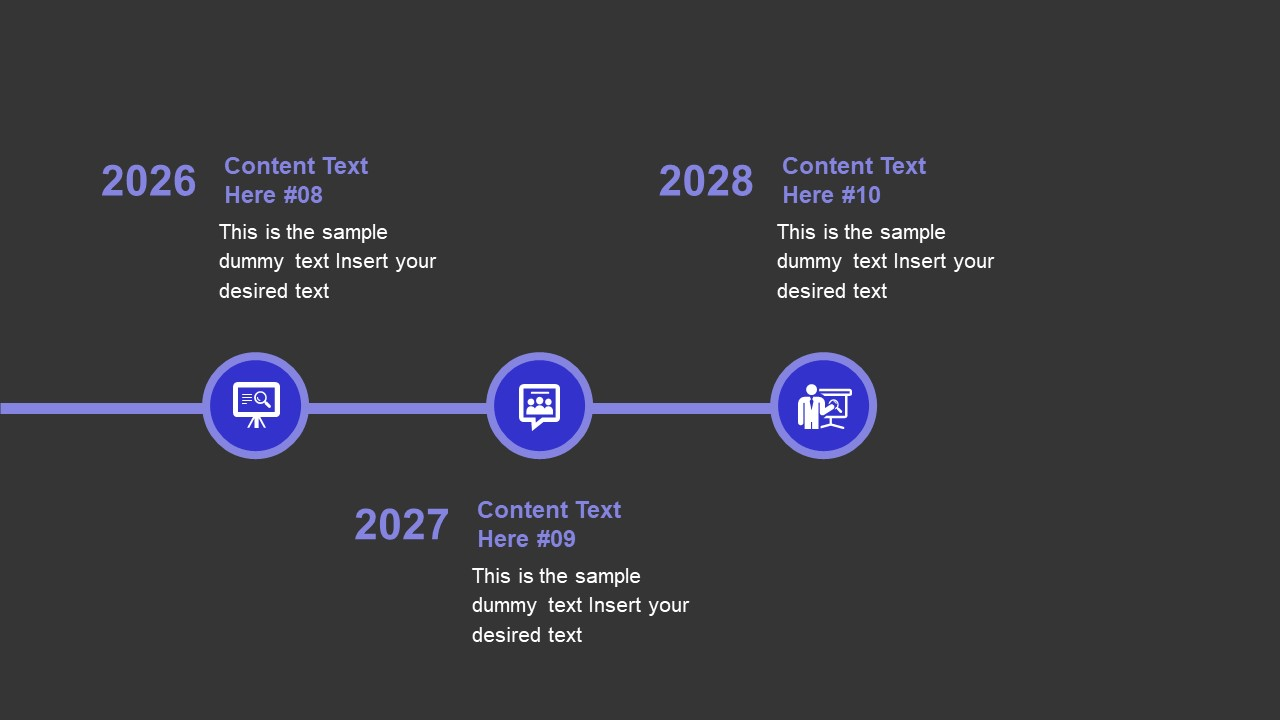 Animated Timeline PowerPoint Business PowerPoint Blue
