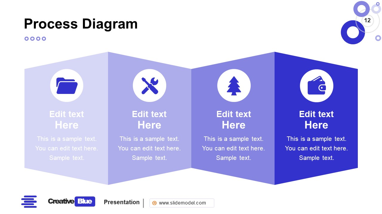 Process Flow PowerPoint Business PowerPoint Blue