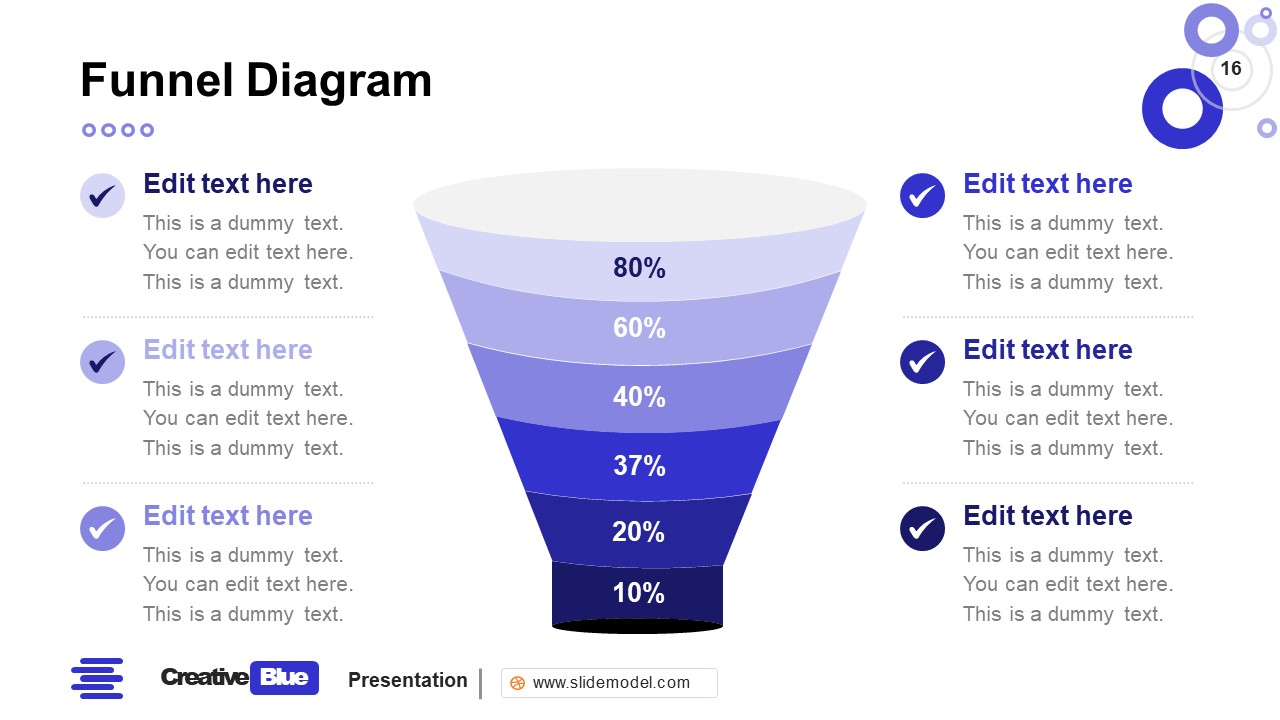 Funnel Chart PowerPoint Business PowerPoint Blue