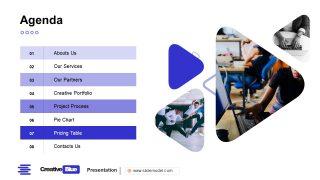 Agenda PowerPoint Business PowerPoint Blue