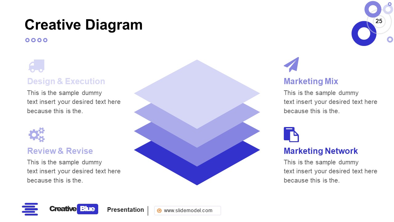 Stacked Diagram PowerPoint Business PowerPoint Blue