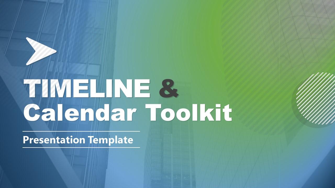 Timelines and Calendar for PPT Cover Slide