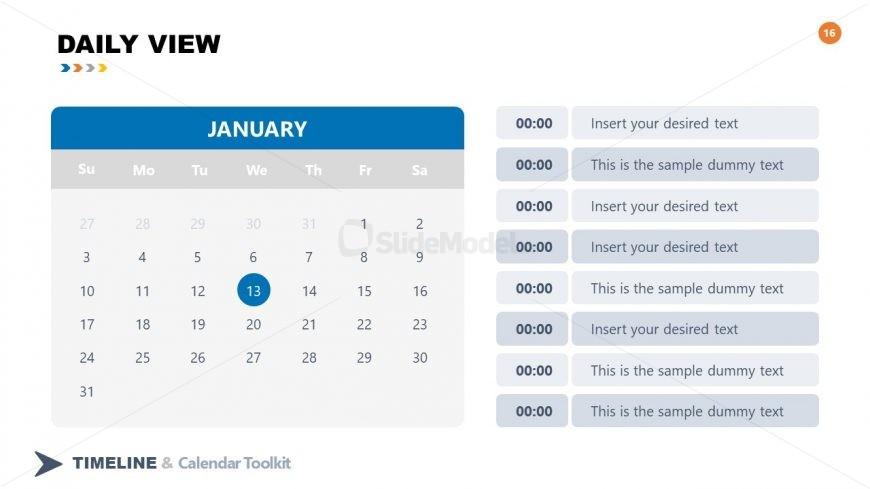PPT Calendar Daily View