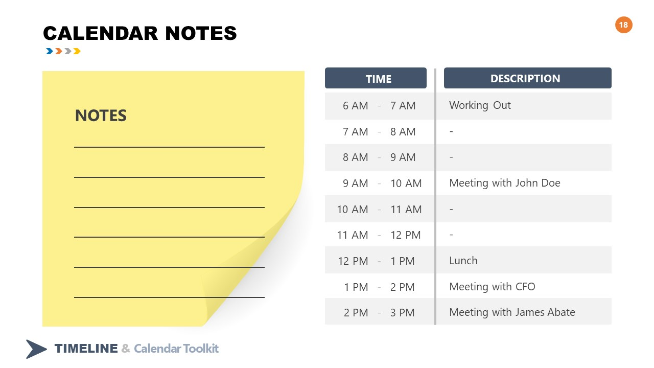 2021 Calendar Tasks Notes Slide Design - SlideModel