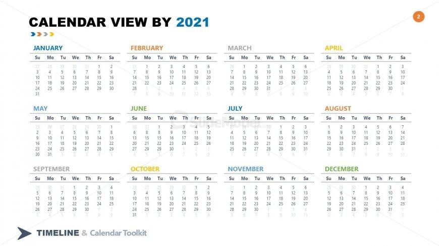 2021 Calendar Side PPT Template