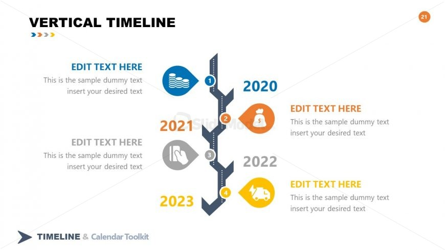 PPT Timelines Template Vertical Toolkit