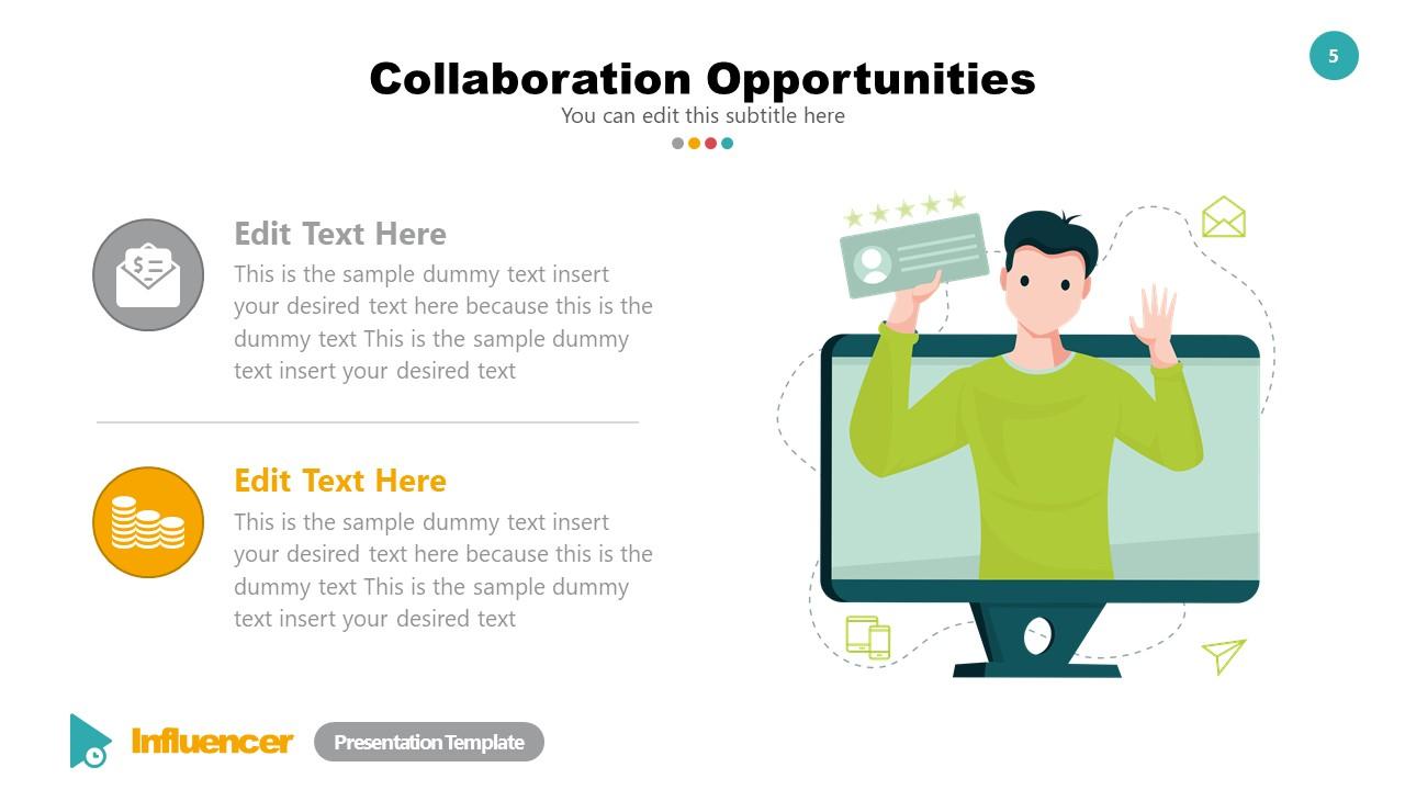 Collaboration Ideas Template Influencer Deck