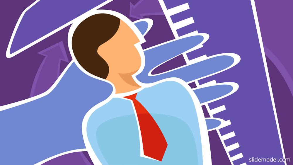 Feedback employee 360 degree illustration image by SlideModel