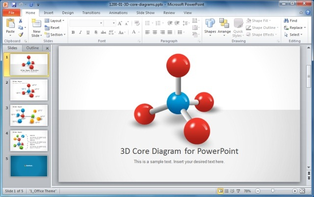 3D Core Diagram for PowerPoint