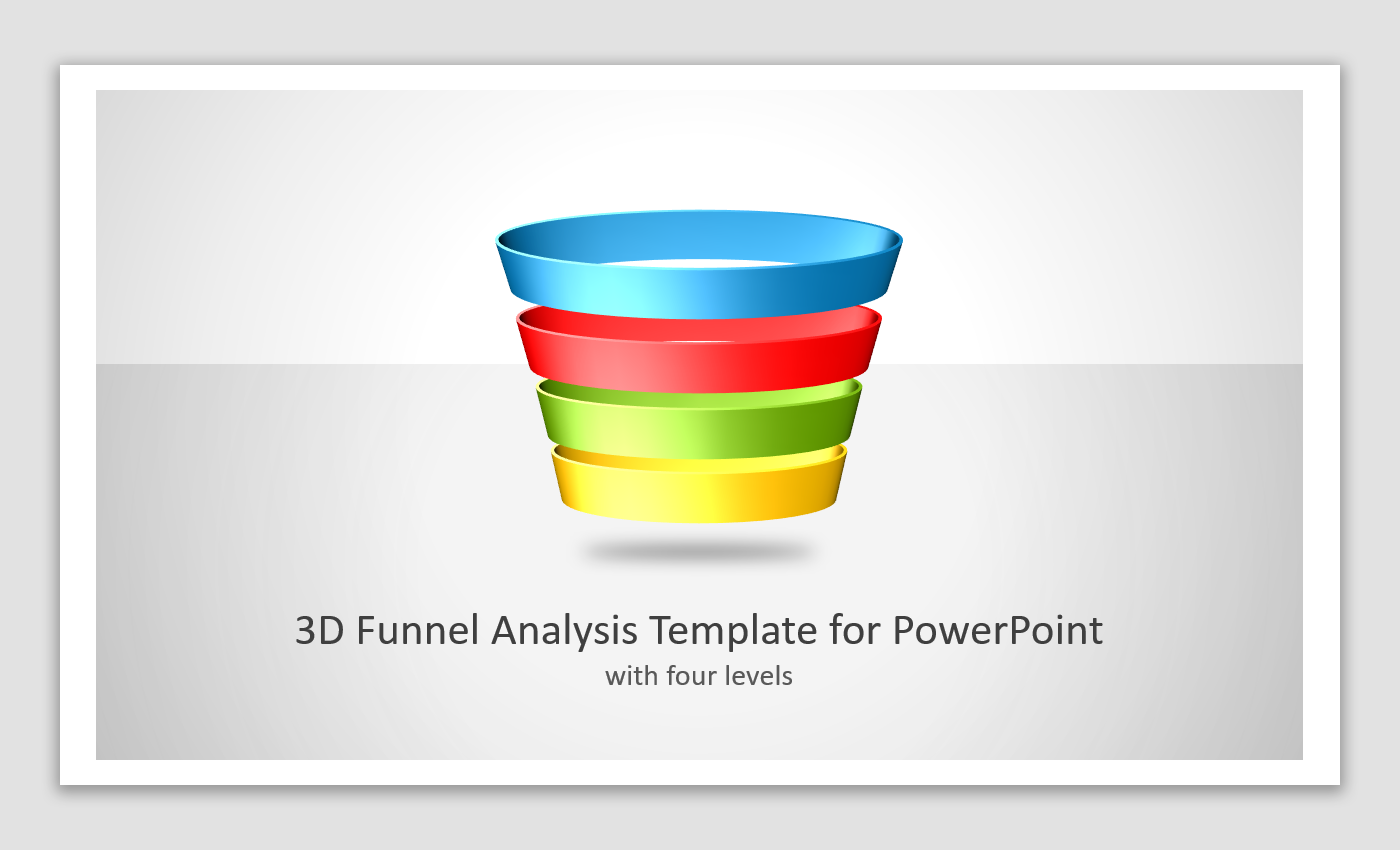 3D Funnel Analysis PowerPoint Template