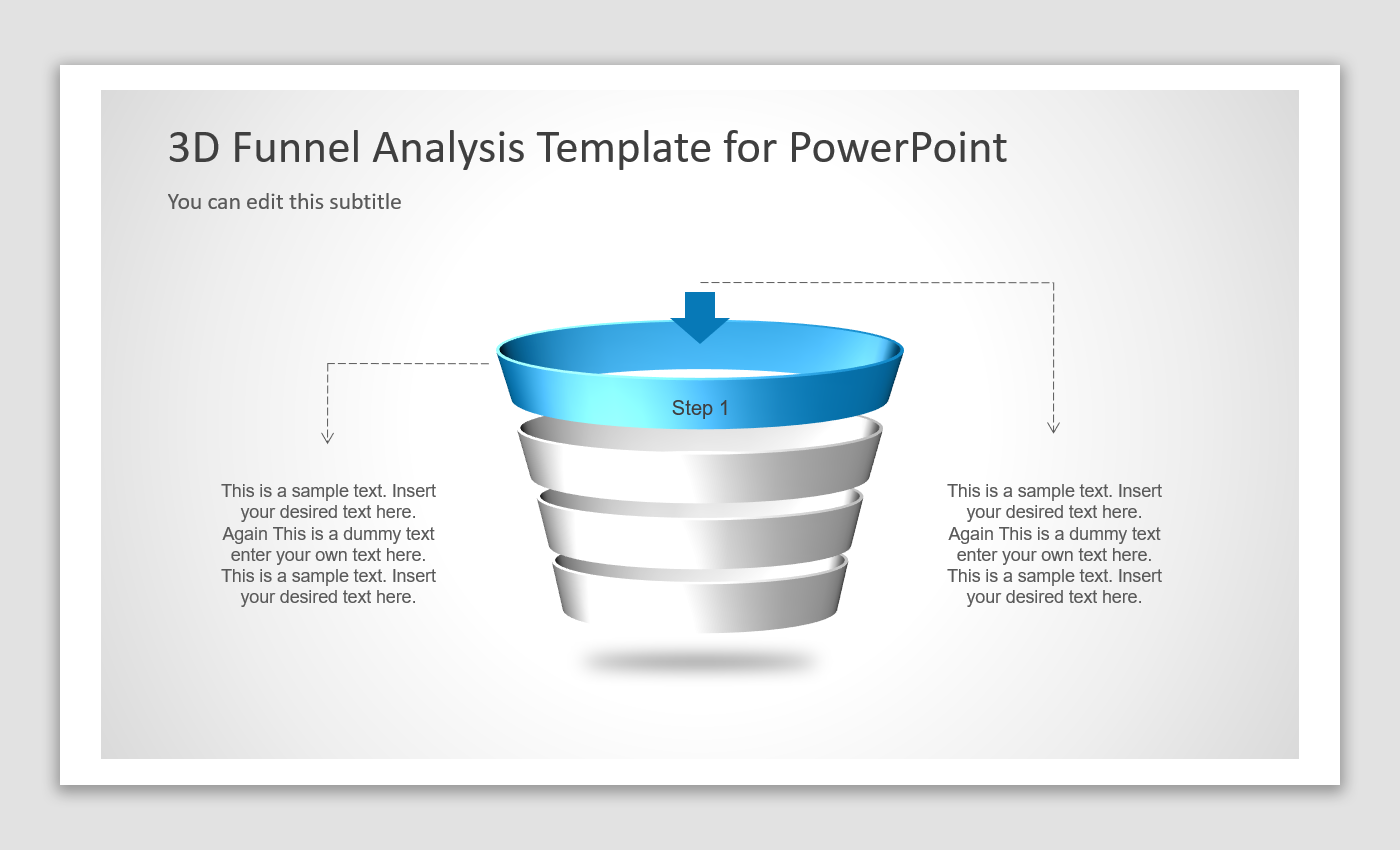 3D Funnel Analysis Steps