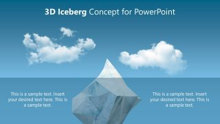PPT Template Iceberg Metaphor Animated