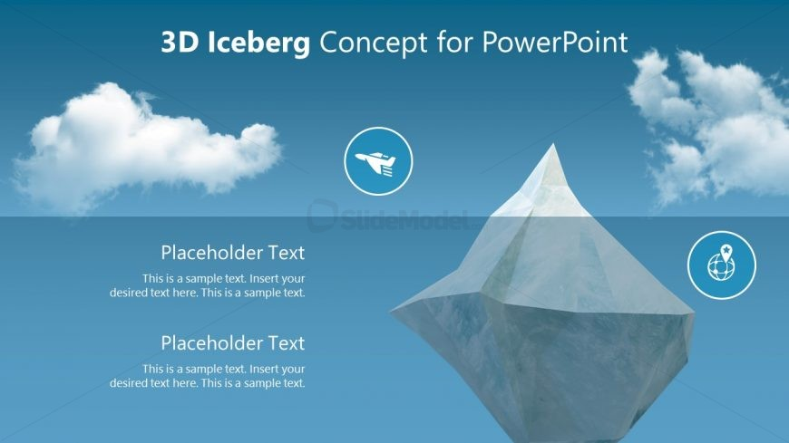 Free PPT Iceberg Diagram 3D Object Template - SlideModel