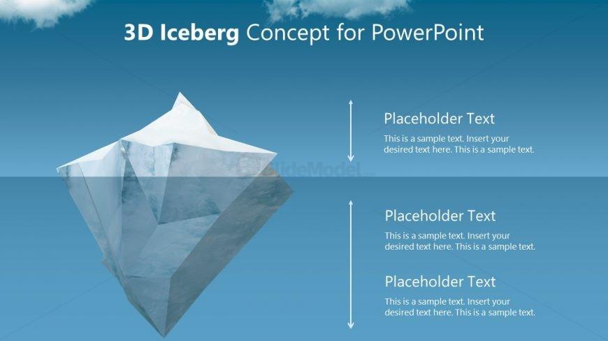 PPT Background 3D Object Iceberg Metaphor