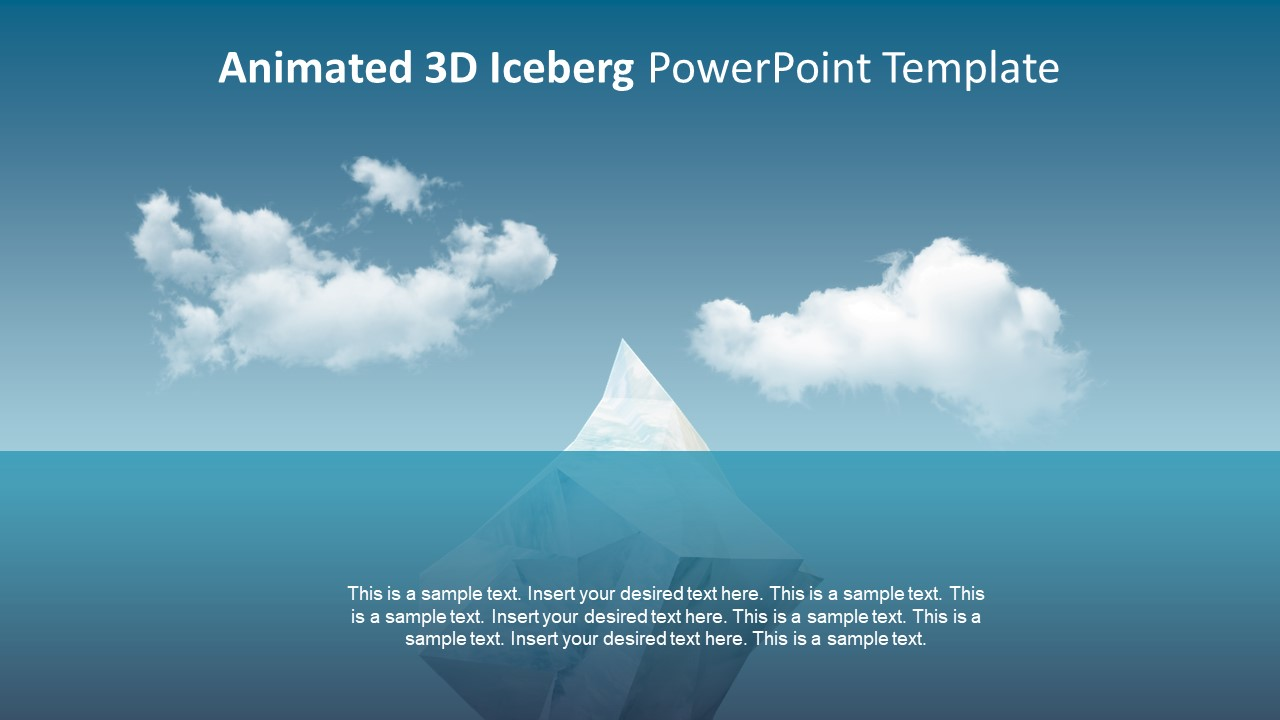 Animated 3d iceberg powerpoint template slidemodel animated 3d iceberg powerpoint template 3d animations clipart slide animations for 3d iceberg toneelgroepblik Image collections