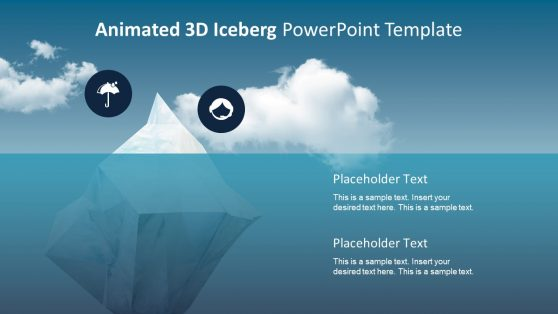 Clipart PowerPoint of 3D Iceberg