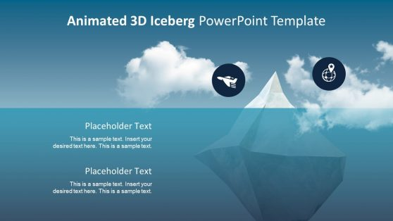 3D Animated PowerPoint Iceberg