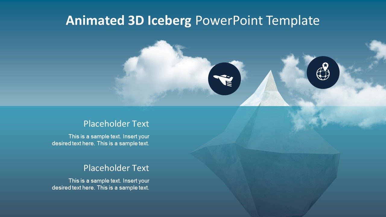 PPT Animated Template Iceberg