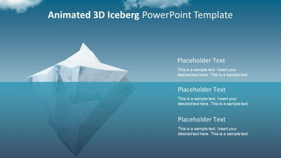 Tip of Iceberg 3D Business PPT
