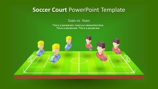 3D Animated Soccer Court PowerPoint Template