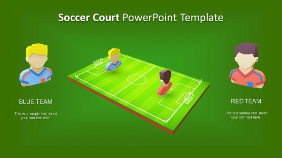 Slide of Soccer Court Animation