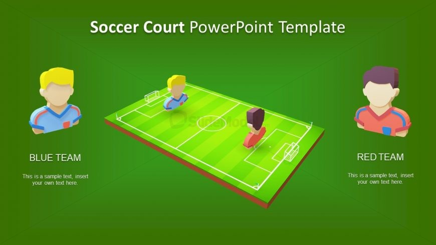 Soccer Court Template Two Teams