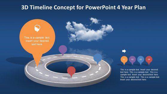 Timeline Concept Presentation in 3D