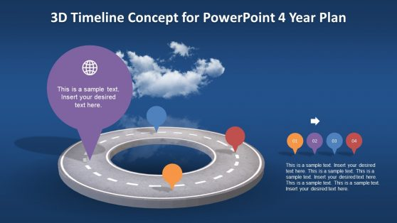 PowerPoint 3D Animated Timeline