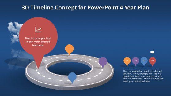 Editable PowerPoint Slide of Timeline