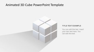 8 Cubes Set PowerPoint