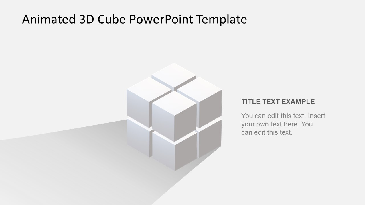 animated 3d cube powerpoint template slidemodel