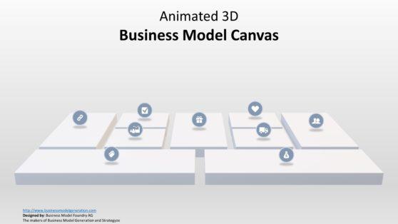 Strategic Management Canvas Icons Slide
